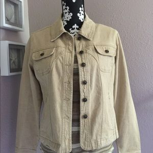 KIKIT JEANS Tan Jean Jacket Pockets Size M